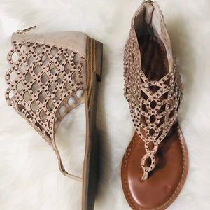 Zigi Soho Rose Gold Rhinestones sandals size 8